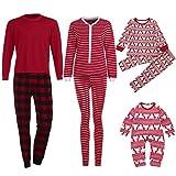 Pigiami Natale per Famiglia Vovotrade Set di vestiti caldi per la famiglia di Natale rosso pigiama - Top + Pantaloni (papà, L)