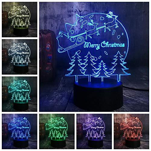 CFLEGEND3D night light (touch + telecomando) personaggio dei cartoni animati LED lampada da tavolo lampada cambia lampada camera da letto atmosfera lampada regalo dei bambini lampada 7 colori USB