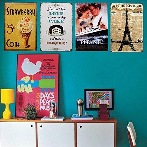 Ducomi Targhe Vintage Metallo Decorative per Cucina e Casa - Targa con  Stampe Americane Decorazione Muro Parete - Quadro Metallico da Appendere -  ...