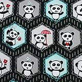 Riley Blake Pandas Stoffbezug, 100% Baumwolle, Fat Quarter