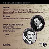 Busoni & Strauss: Romantic Violin Concertos [Tanja Becker-Bender, Garry Walker] [Hyperion: CDA68044]