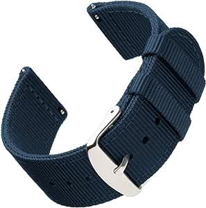 Archer Watch Straps | Bracelets de Remplacement en Nylon Facilement Interchangeables pour Montre Homme et Femme, Aussi pour Montres Connectées | Plusieurs Couleurs, 18mm, 20mm, 22mm