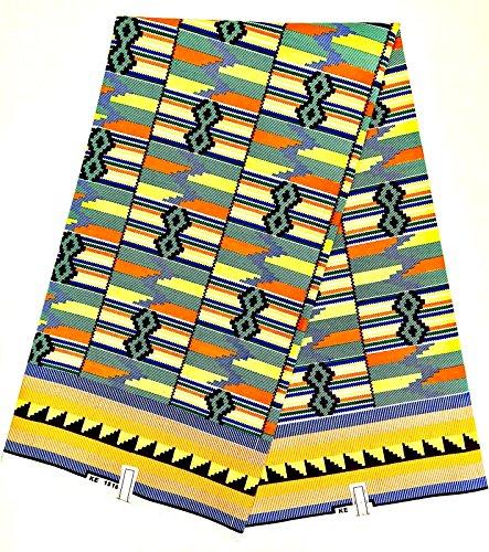 loincloth cera Supreme Kinte africano Kente panno Olanda originale modello Java 5,5m Stampa 100% cotone cera