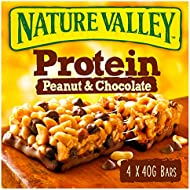Nature Valley Protein Peanut & Chocolate Gluten Free Cereal Bars 40g (Pack of 4 bars)
