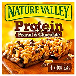 Nature Valley Protein Peanut & Chocolate Cereal Bars 40g (Pack of 4 bars)