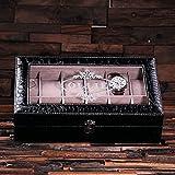 personalisierbar Uhrenbox Krokodil, schwarz