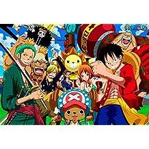 One Piece Omatsuri Danshaku to Himitsu no Shima (21x14 inch, 52x35 cm) Silk Poster Seda Cartel PJ17-4293