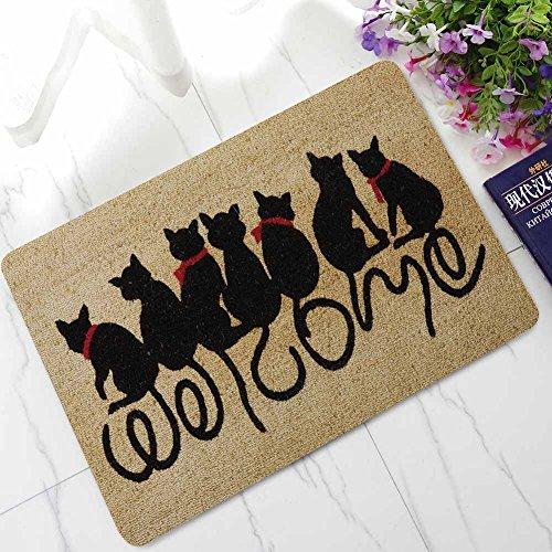 Tessuto home zerbino antiscivolo stampato a forma di gatto lovers series dentro fuori in gomma tappetini tappetino da bagno cucina tappeto assorbente zerbini, cat 4, 16 x 24 inch