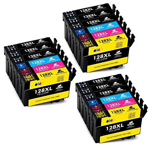 IKONG Compatibile Cartucce encre Epson T1281 T1282 T1283 T1284, Alto Rendimento, 18 Confezioni, Lavora con Epson Stylus Office BX305F BX305FW SX125 SX130 SX230 SX235W SX420W SX425W SX430W Stampante