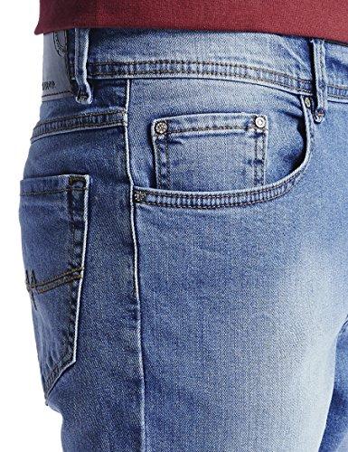 Oklahoma Jeans R140, Jean Coupe Droite Homme, Noir Blau (Light Stone 006)