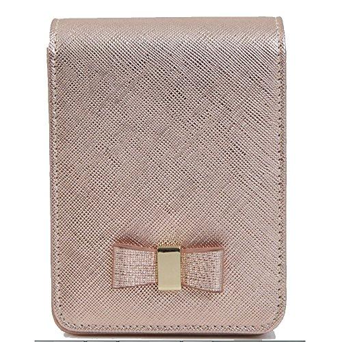 Damen Soft echt Leder Zigarettenetui Tabak Pack Halter Saver Pocket Box mit Mini Schlüsselanhänger mit Puppe (Leder-lippenstift-halter)