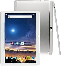 MediaTab M100 10 Zoll Tablet PC 3G Dual SIM GPS Android 7.0 16GB Quad-Core 1GB RAM HD IPS Display 1280 x 800 Kamera (inkl. Tastatur / Tasche, Silber)