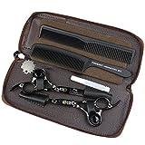 HEMATITE schwarze Titan professionelle Haarschere, 5,5 Zoll japanische 440C Stahl Haarschere, Friseur Schere dünne Schere, schöne Taschen