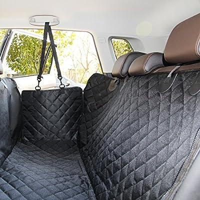ELETIST Cubierta de Asiento Para el asiento trasero o el maletero,waterproof,sasy limpia,Protector Antideslizante,Adecuado para la mayoría de los modelos - 140 * 130 cm Negro