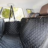 ELITIST Luxus Autoschondecke für Hunde,Kofferraumschutz Rundumschutz mit Sitzanker,Wasserdicht Undurchlässig Einfache Reinigung,Auto Hundedecke Hund autositz 140 * 130(cm) Schwarz,Alle Modelle gelten