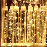LED Lichterketten Innen mit EU Stecker, 12m, 100er, Warmweiß, Weihnachtsbaum Deko, für Innen und Außen, Erweiterbar, mit 31V DC Niederspannungs-Transformator 8 Funktionstype