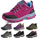 BOLOG Zapatos de Senderismo Para Hombre Zapatos de Low Rise Trekking Ocio Al Aire Libre y Deportes Zapatillas de Running Trekking de Escalada Zapatos de Montaña Mujer,Rosado,EU37