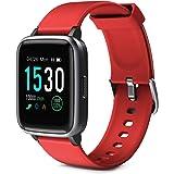 Glymnis Reloj Inteligente Smartwatch Impermeable IP68 Pulsera Actividad con Pulsómetro Monitor de Sueño Pantalla Táctil Compl