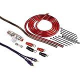 Hama Anschluss-Set für Car Hifi-Verstärker (AMP-Kit mit Powerkabeln (16 mm²), Cinchkabel, Sicherungshalter, Sicherung, Gabelkabelschuhen und Kabelbinder)