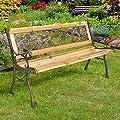 Gartenbank Holzbank Bank aus Gusseisen Holz inkl. Schutzhülle verschiedene Designs von Homelux auf Gartenmöbel von Du und Dein Garten