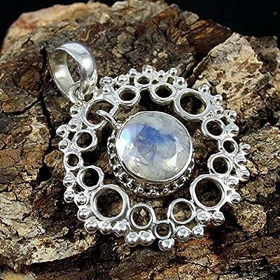 Rainbow Moonstone 925 Sterling Silver Pendant Gemstone