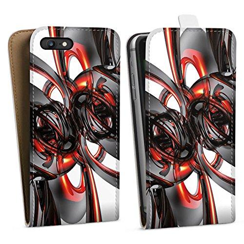 Apple iPhone X Silikon Hülle Case Schutzhülle Strudel Lack Glanz Downflip Tasche weiß