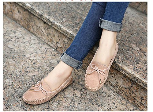 Women Bean Bean Shoes Ballet Soft Shoes Chaussure Ballerine Flat Slip On Bow Jelly Chaussures Apricot