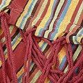 Dooret New Handmade Strengthed Woven Knot Red Stripe Thickened Cotton Hammock von Dooret bei Gartenmöbel von Du und Dein Garten