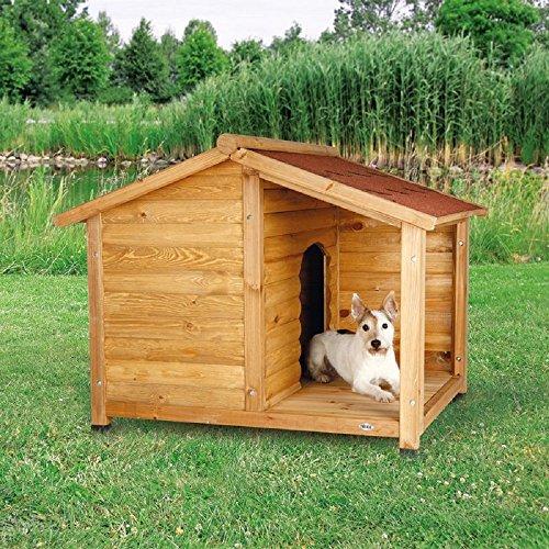 Caseta de madera para perro, estilo cabina (pequeño)