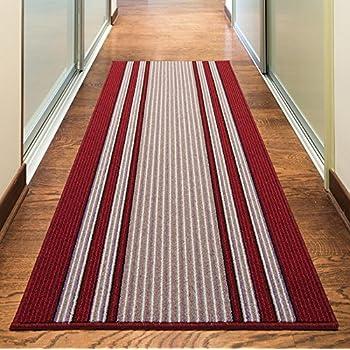 Casa Pura 174 Shaggy Rug Runner For Hallway Red 66x100cm