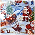 Wachstuch Tischdecke Gartentischdecke mit Fleecerücken Gartentischdecke, Pflegeleicht Schmutzabweisend Abwaschbar Weihnachten Weiss Motive - Größe wählbar von Moderno bei Gartenmöbel von Du und Dein Garten