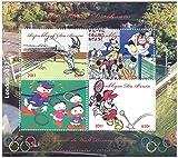 Disney bei den Olympischen Spielen London 2012 Briefmarken für Sammler - mit Bugs Bunny, Goofy, Pluto, Donald Duck und Minnie Mouse