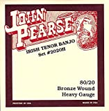 John Pearse 2020H Jeu de cordes pour Banjo ténor Irlandais Tirant fort Naturel