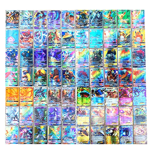 Dorara 300 Pièces Pokemon Cartes (195GX+80EX+25MEGA), Pokemon GX EX Mega Flash Cartes, Cartes à Collectionner, Jeu de Cartes Puzzle Fun