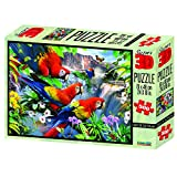 Howard Robinson Super 3D Puzzle mit Ara-Motiv Flight of The Macaw, Mehrfarbig, 500 Teile