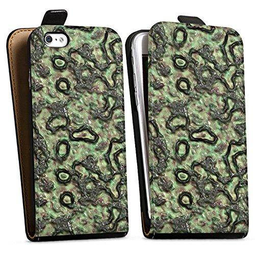 Apple iPhone X Silikon Hülle Case Schutzhülle Slime Grün Abstrakt Downflip Tasche schwarz