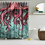 colorfulworld Digital Printed Antibacterial mildew Proof 100% poliéster Fabric Water Resistant Shower Curtain–Mould Washable, 150* 180cm