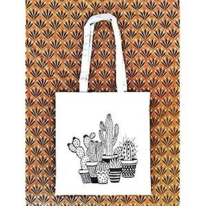 Tote Bag Kaktus – Stoffbeutel – Jutebeutel - ökologische Baumwolle - Geschenk für Frau - Geschenk des Weihnachtens - Prime