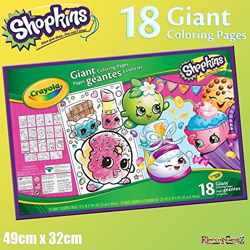 B-Creative Crayola Shopkins 18 Riesen farbige Seiten Poster Sheets 49cm x 32cm