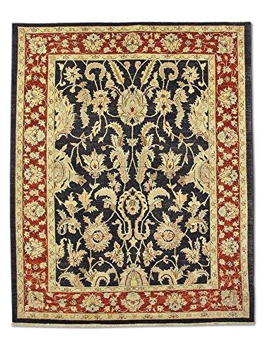 Pak Persian Rugs Handgeknüpfter Mahal Teppich, Schwarz, Wolle, 195 X 237 cm (Teppich Schwarz Mahal)
