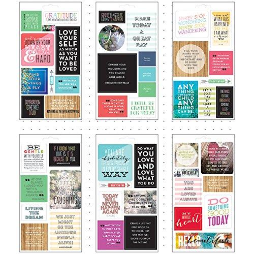 Unbekannt Me & My Big Ideas Aufkleber Pocket Seiten Klar 6Sheets-Love Selbst