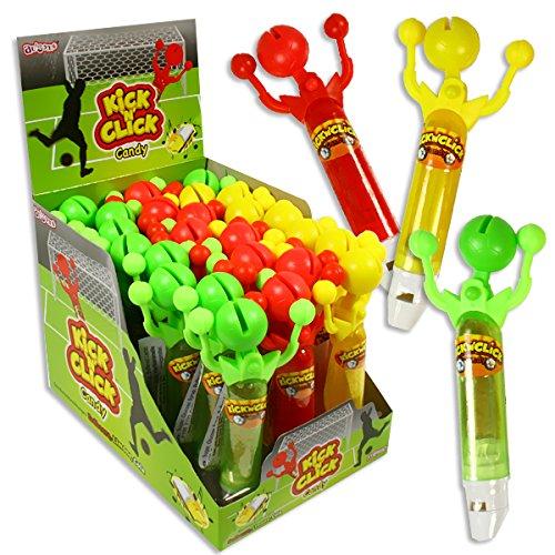 SB Union Kick n Click Großpackung, 24 Stück, Applauslutscher, Cola, Erdbeer und Zitrone, 144g