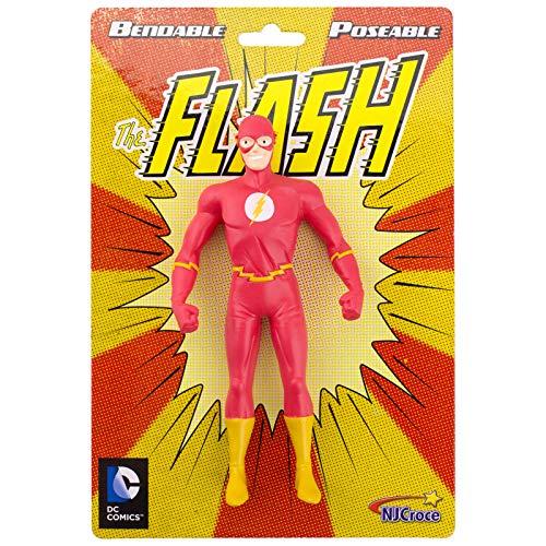 NJ Croce DC Comics Justice League ,The Flash, Bendable Poseable Figure, Multi Color