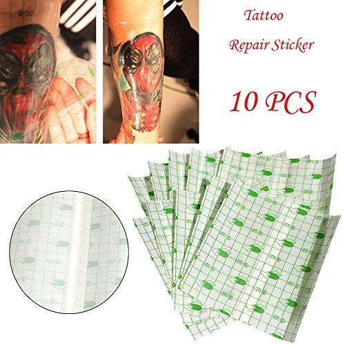 EliaSan Personal Care 10 Stück Tattoo Reparatur Aufkleber Film Wrap Cover Permanent Makeup Patch (Wrap-patch)