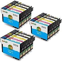 Gohepi Reemplazo para Epson T0711 T0712 T0713 T0714 Cartuchos de tinta Alta Capacidad 6 Negro, 3 Cian, 3 Magenta y 3 Amarillo Compatible con Epson Stylus SX218 SX515W SX400 SX200 SX600FW SX610FW BX3450F D78 D92 D120 DX4000 DX4050 DX4400 DX4450 DX5000 DX5050 DX6000 DX6050 DX7000F DX7400 DX7450 DX8400 DX8450 DX9400F S20 S21 SX100 SX110 SX105 SX115 SX205 SX209 SX210 SX215 SX405 SX405WiFi SX410 SX415 SX510W BX600FW B40W BX300F BX310FN