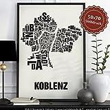 Koblenz Buchstabenort Schwarz auf Naturweiß