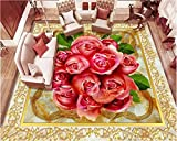Jonp 3D Tapete Hintergrundbild Wallpaper Schöne Klassische 3D Wallpaper Square Europäischen Parkett Marmor 3D-Fußboden Fliesen Design Feine Laminierung Wandmalerei Fresko Mural 350cmX280cm