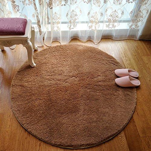 ZGP Tapis intérieur Tapis de Rangement Rond, Tapis Gris Ensemble de lit Rond Chambre à Coucher de Yoga Salon Table à café Tapis Couverture (Couleur : D, Taille : ROUND-100CM)
