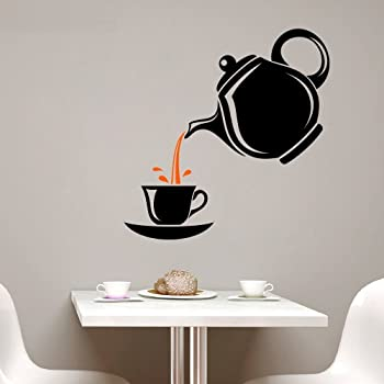 Asmi Collections Wall Sticker for Kitchen A Cup of Tea