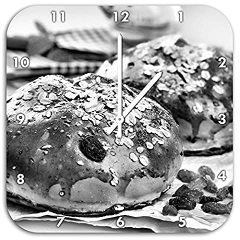 Monocrome, honey buns, wall clock diameter 48cm with white pointed the hands and face, decoration items, Designuhr, aluminum composite very nice for living room,